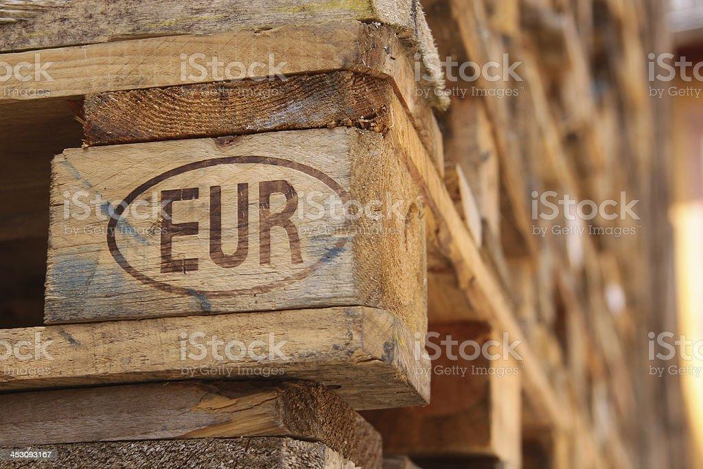 Euro pallet stock photo