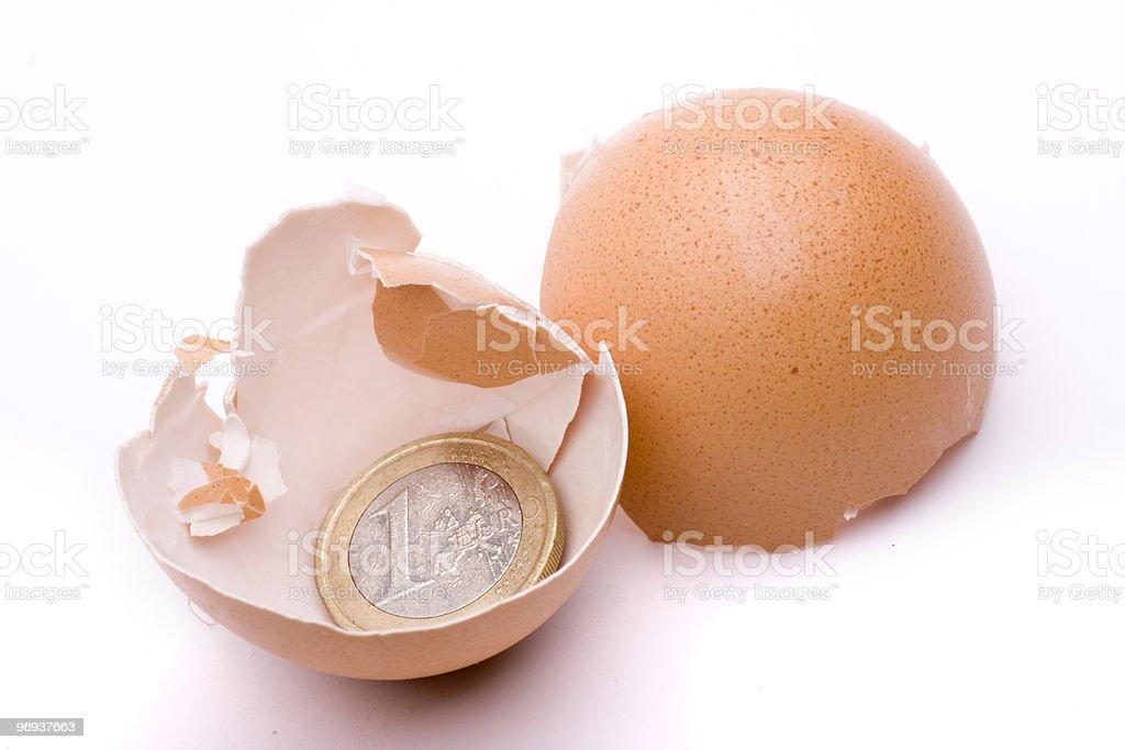 euro peel royalty-free stock photo
