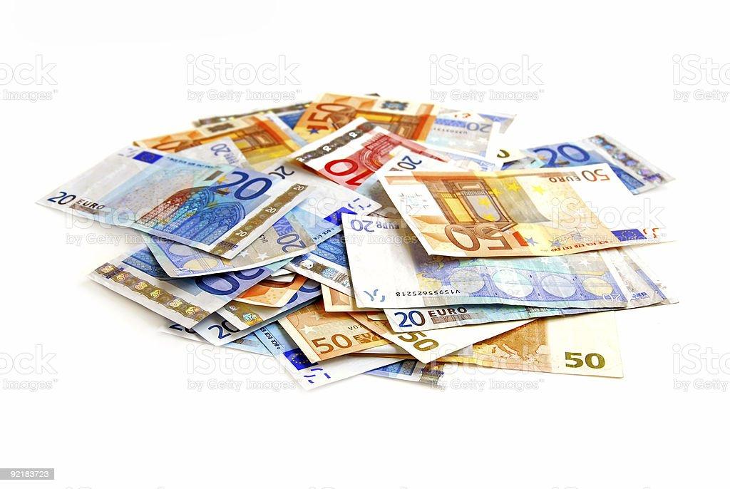 Euro pile royalty-free stock photo