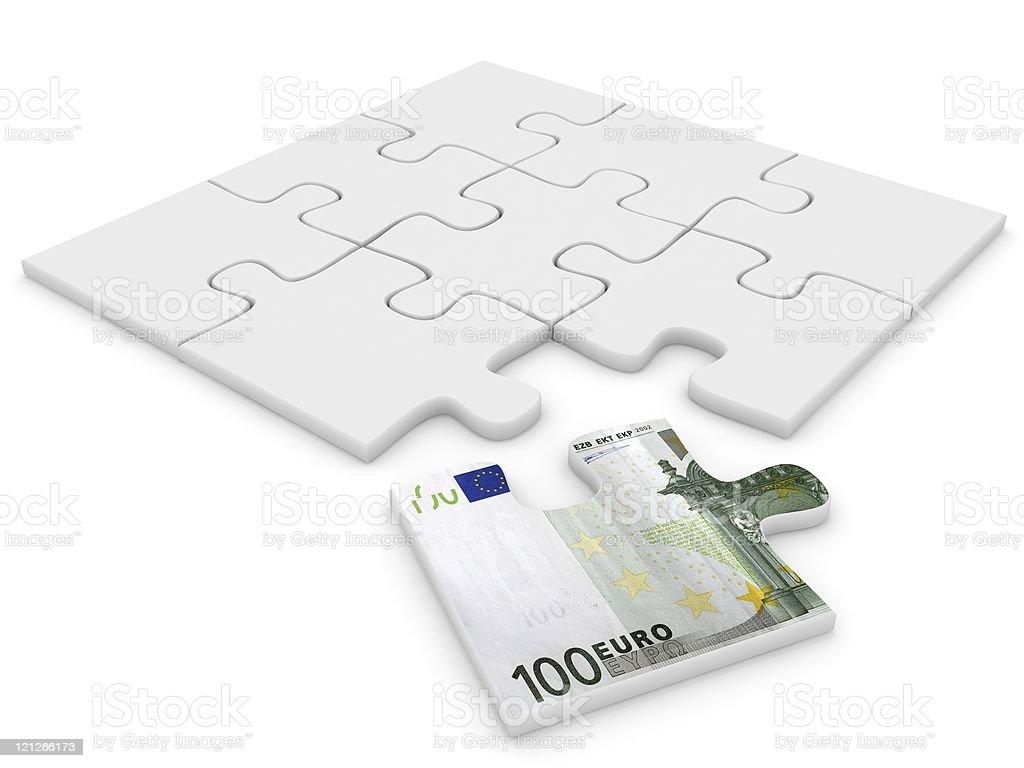 Euro Puzzle Piece royalty-free stock photo