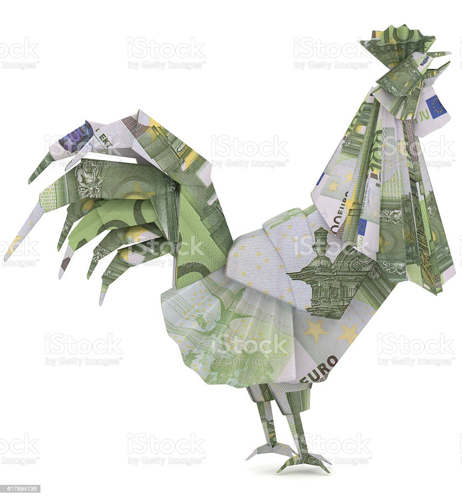 Euro rooster money origami symbol of chinese new year stock photo euro rooster money origami symbol of chinese new year royalty free stock photo biocorpaavc Images
