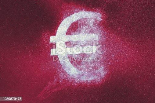 1039894076 istock photo Euro sign, Euro Symbol. Abstract background 1039879478