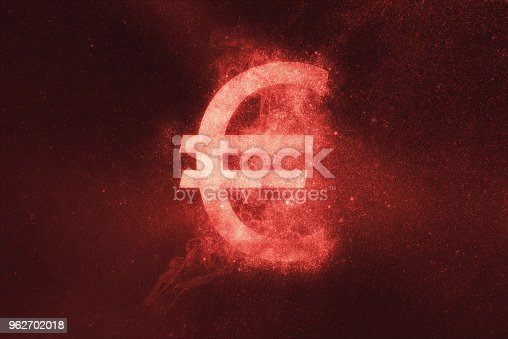 istock Euro sign, Euro Symbol. Abstract night sky background 962702018