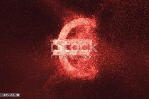 1039894076 istock photo Euro sign, Euro Symbol. Abstract night sky background 962702018