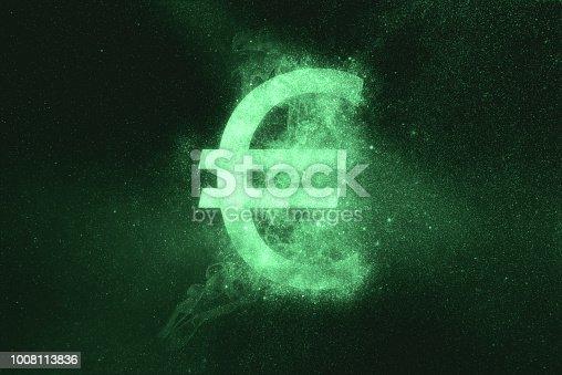 1039894076 istock photo Euro sign, Euro Symbol. Green symbol 1008113836