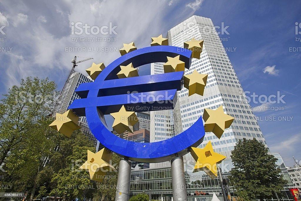 Euro Sign in Frankfurt, Germany royalty-free stock photo