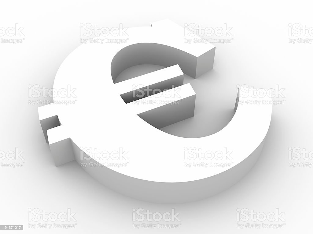 Euro sign royalty-free stock photo