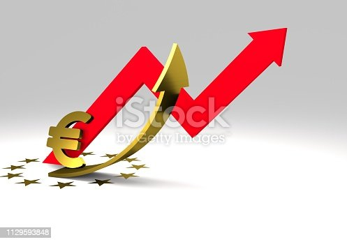 istock euro sign with a graph 1129593848