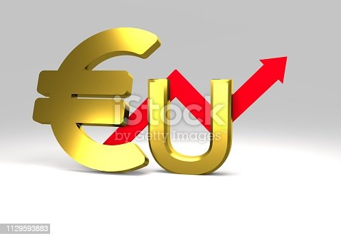 istock euro sign with a graph 1129593883