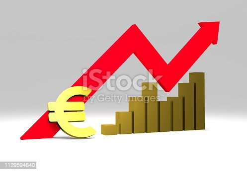 istock euro sign with a graph 1129594640