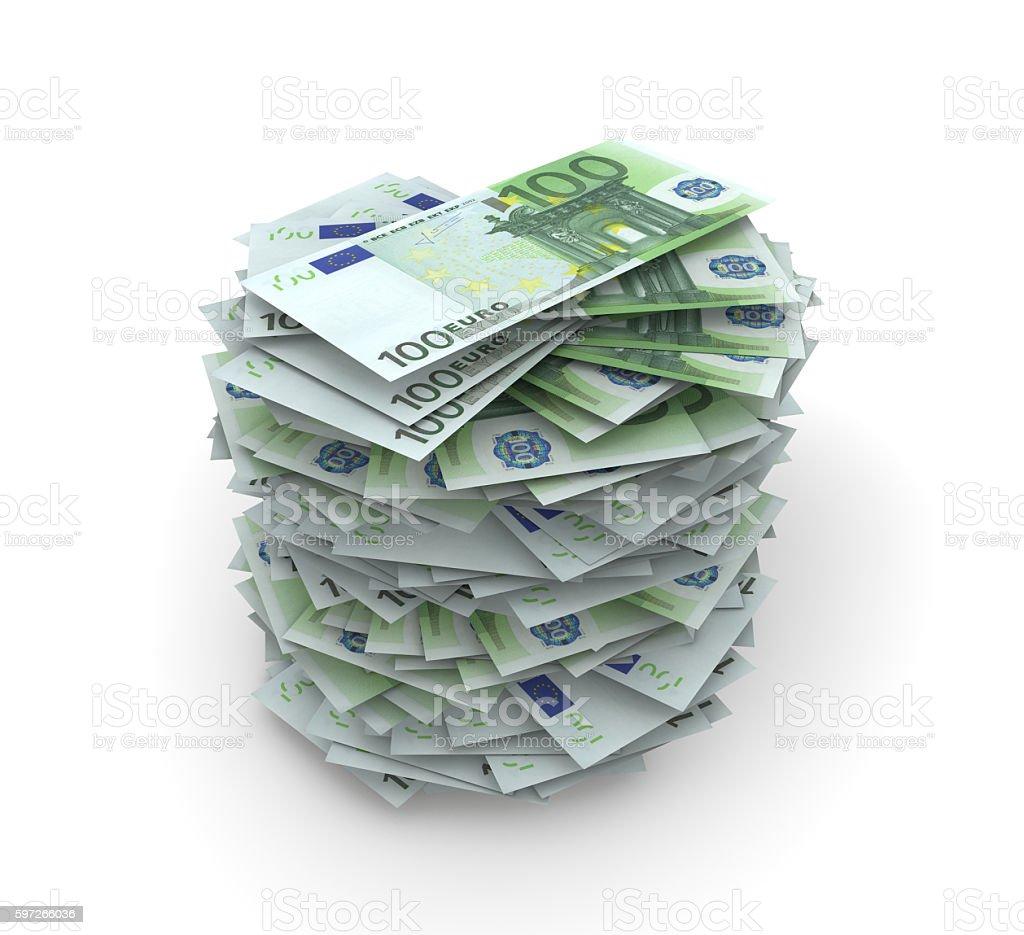 Euro Stack royalty-free stock photo