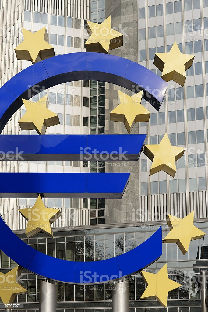 Euro Symbol, Frankfurt royalty-free stock photo