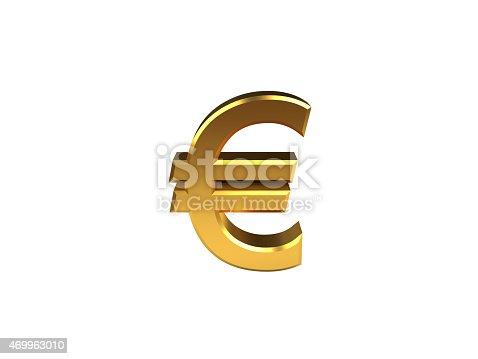Euro symbol isolated