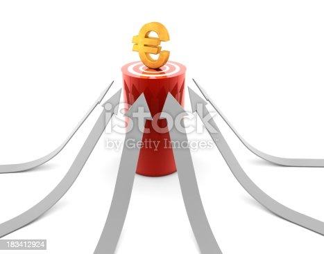 istock Euro Symbol on Target 183412924