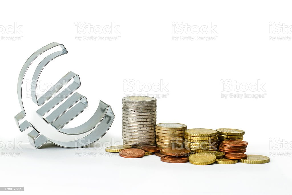 Euro symbol royalty-free stock photo
