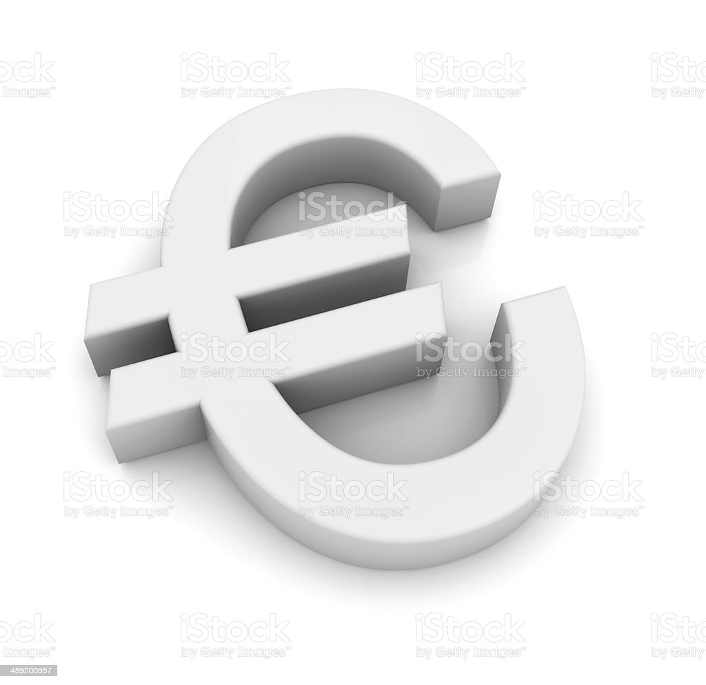 Euro Symbol royalty-free stock photo