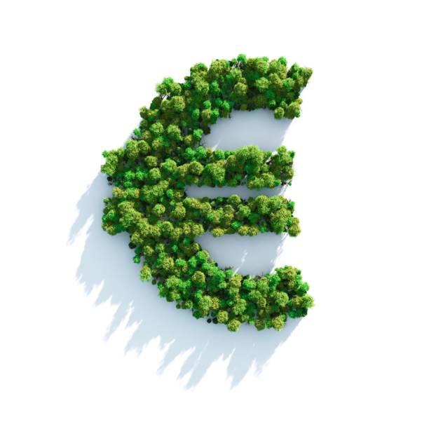 euro: ansicht von oben - euro symbol stock-fotos und bilder