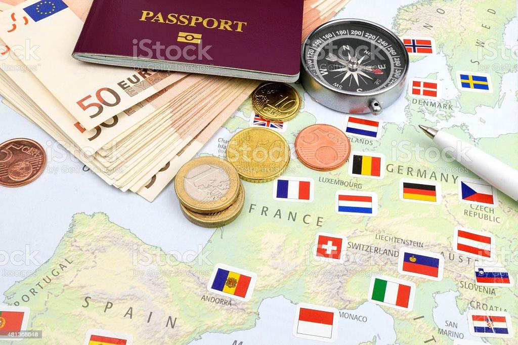 Euro Travel Cash stock photo