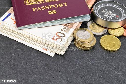 istock Euro Travel Money 481368656