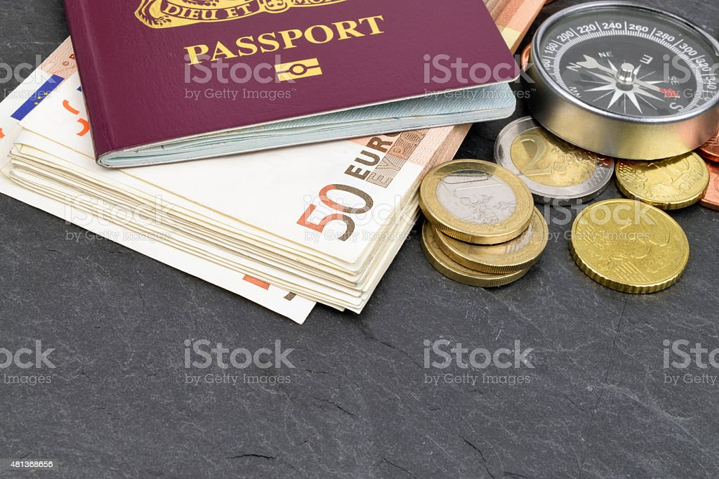 Euro Travel Money stock photo