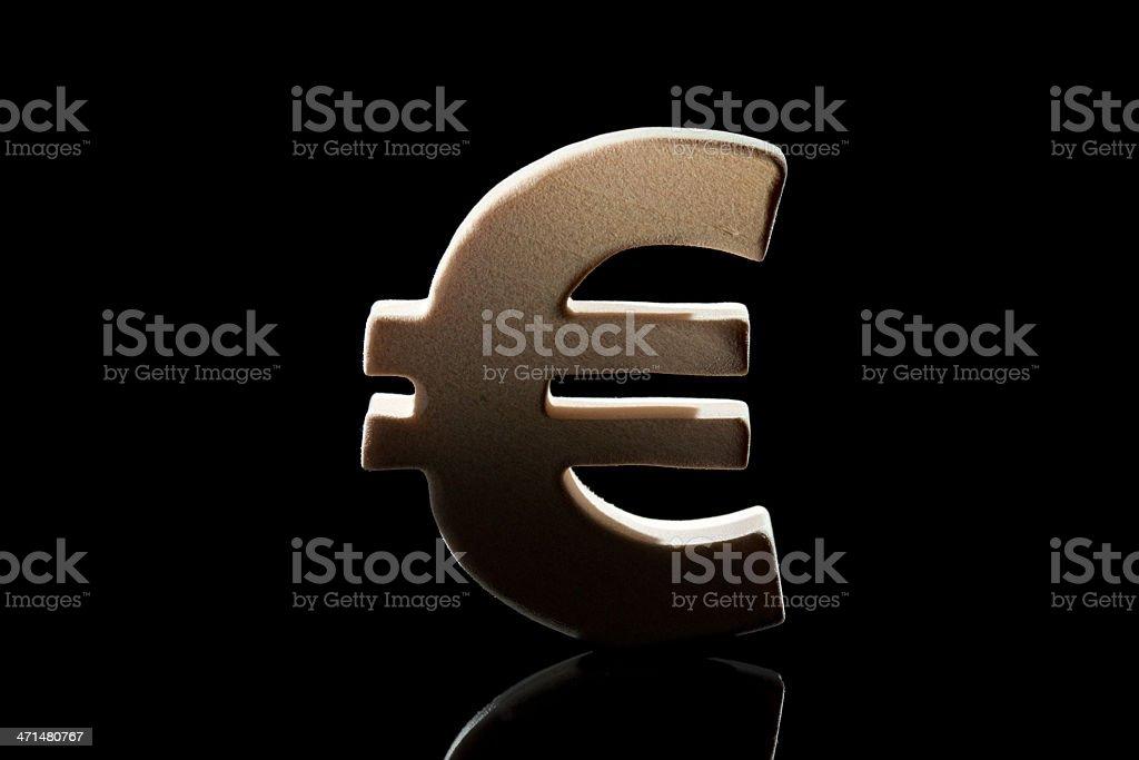 Euro, wood symbol royalty-free stock photo