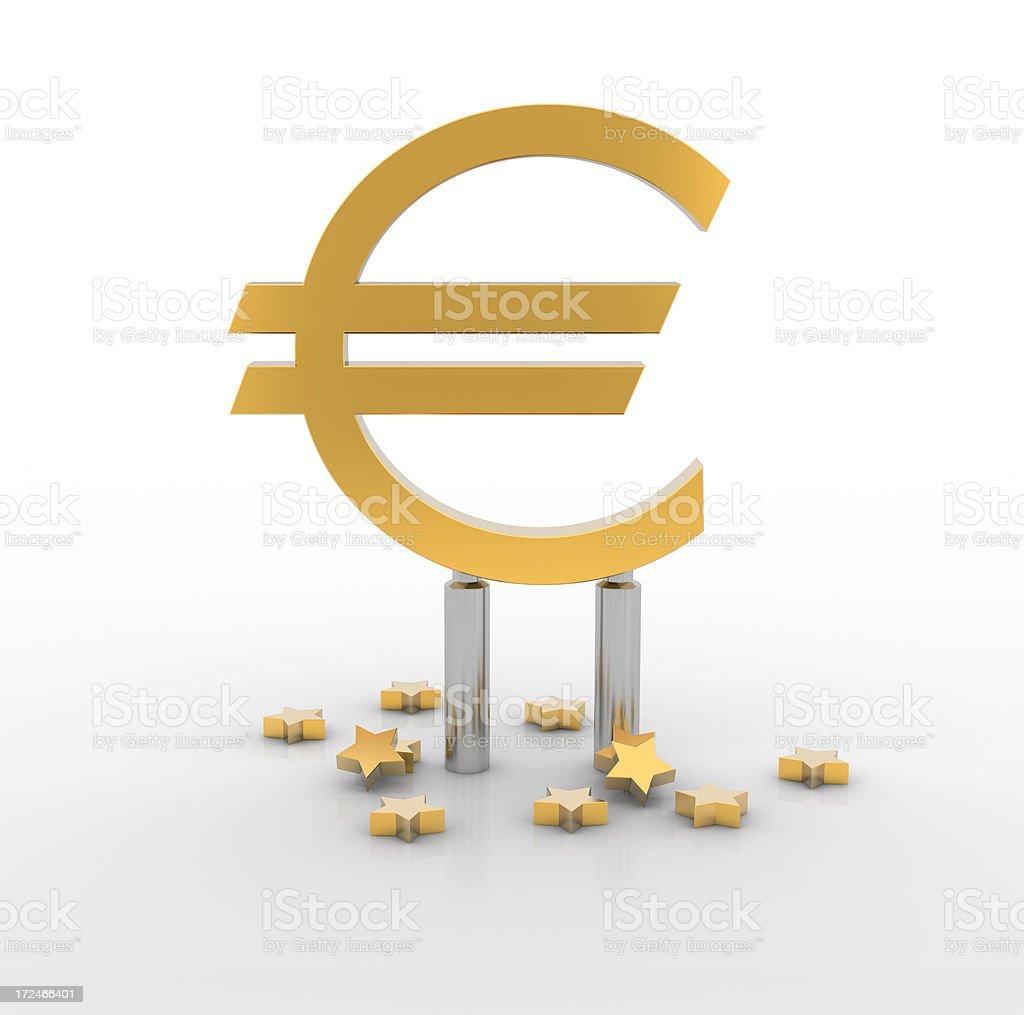 Euro zone sign royalty-free stock photo