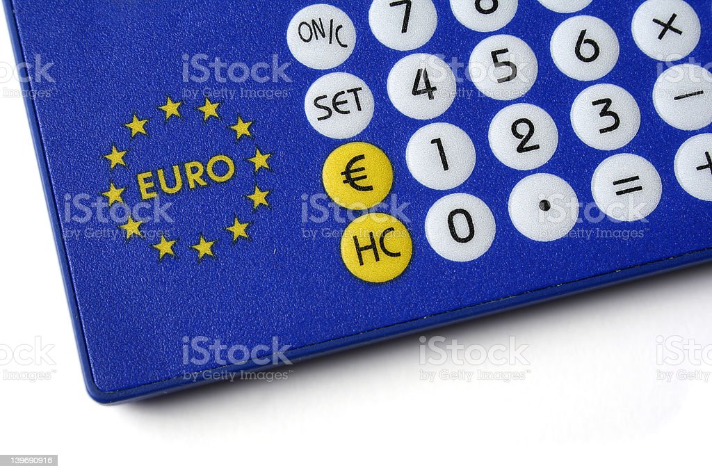 Euro-currency converter royalty-free stock photo