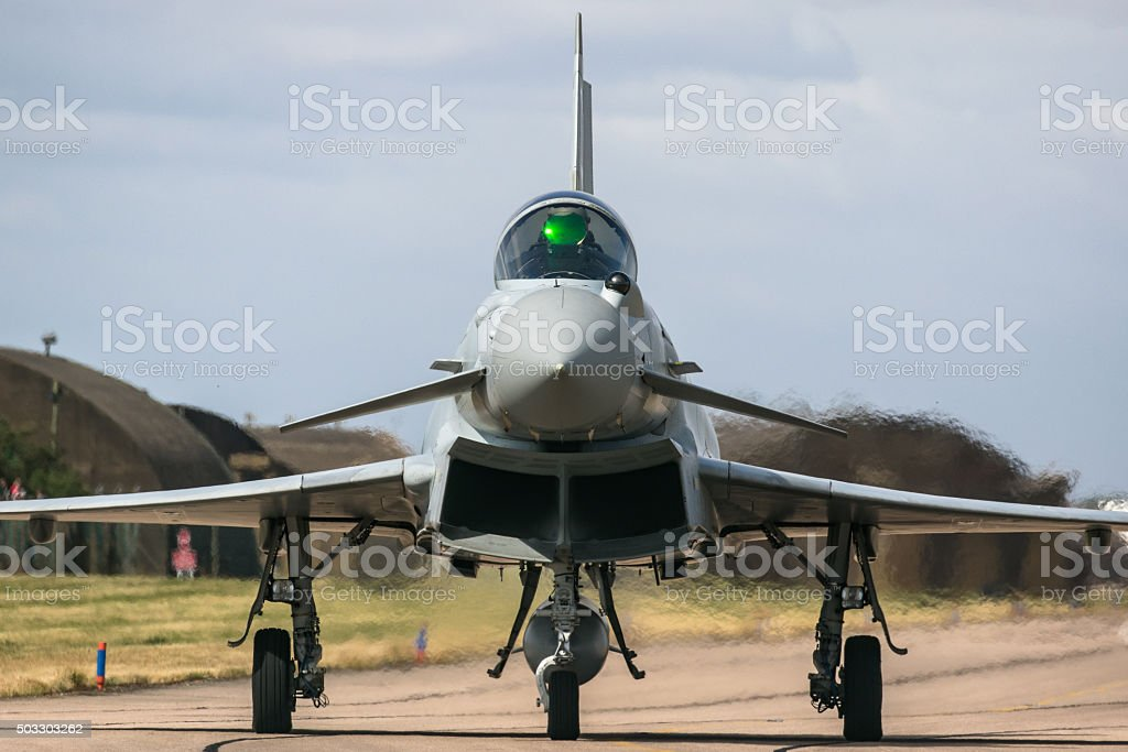 Eurofighter Typhoon Fighter Combat Aircraft stock photo