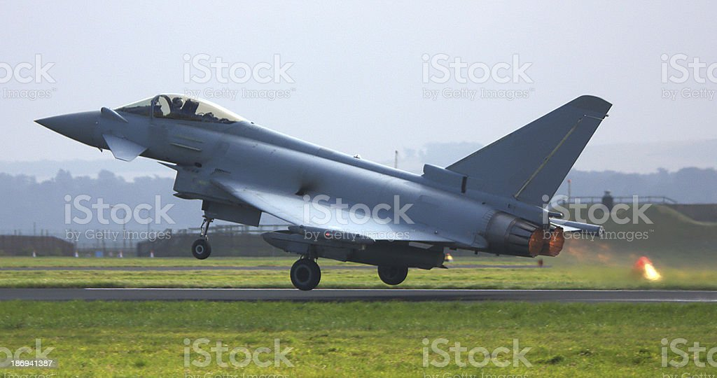 Eurofighter Typhoon takes off royalty-free stock photo