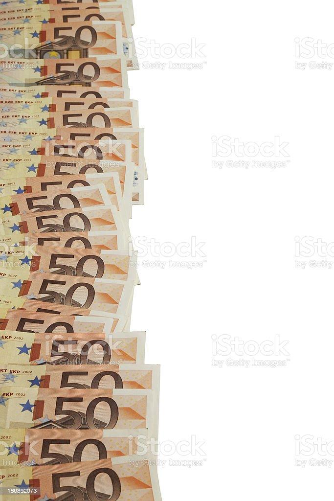 eurogeldscheine stock photo