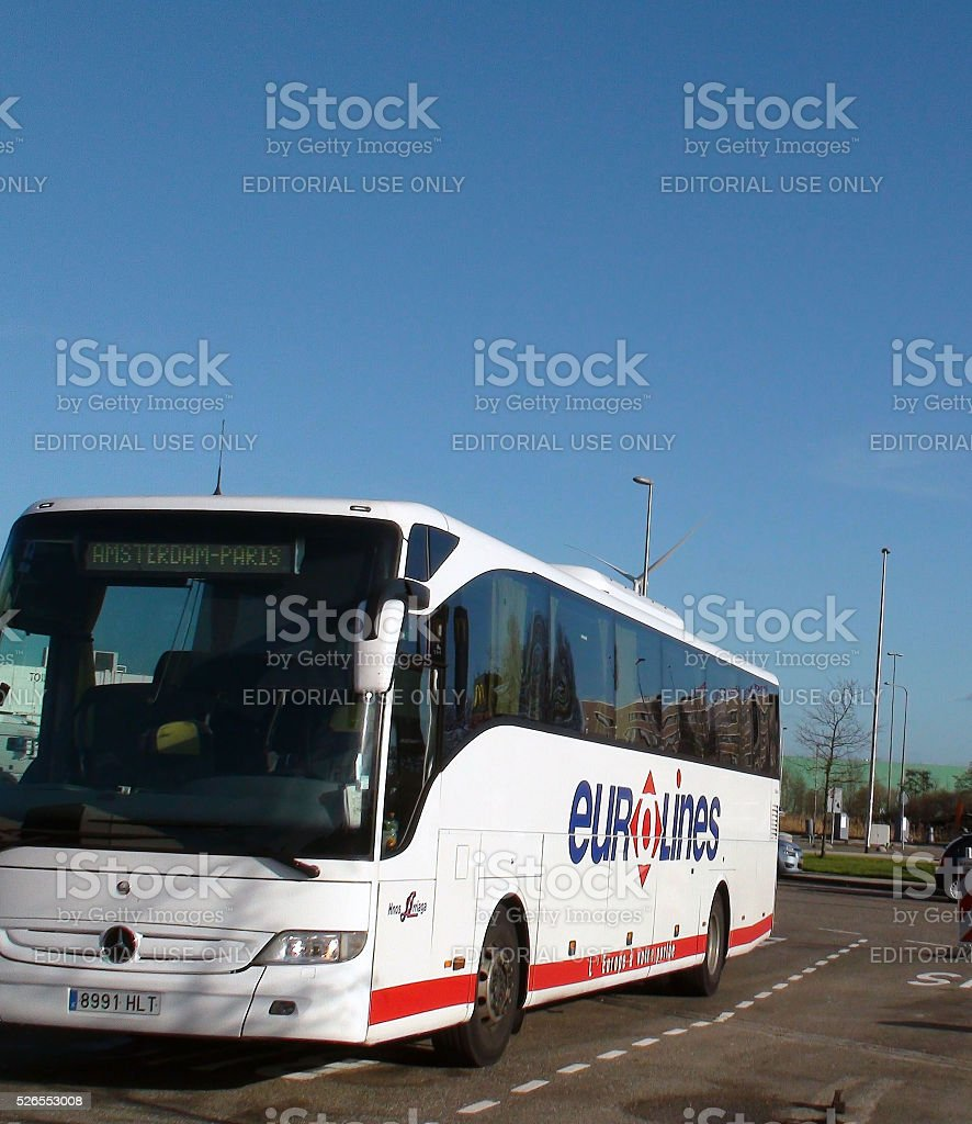 eurolines bus en direction damsterdam paris france leurope photos et plus d 39 images de. Black Bedroom Furniture Sets. Home Design Ideas