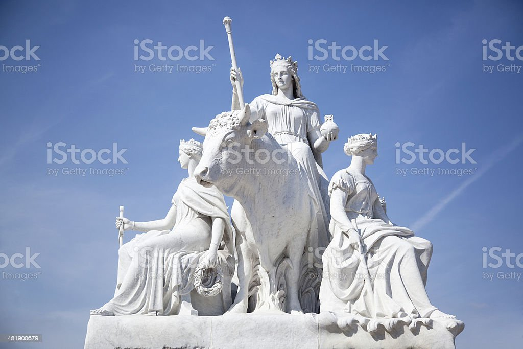Europa and the Bull stock photo