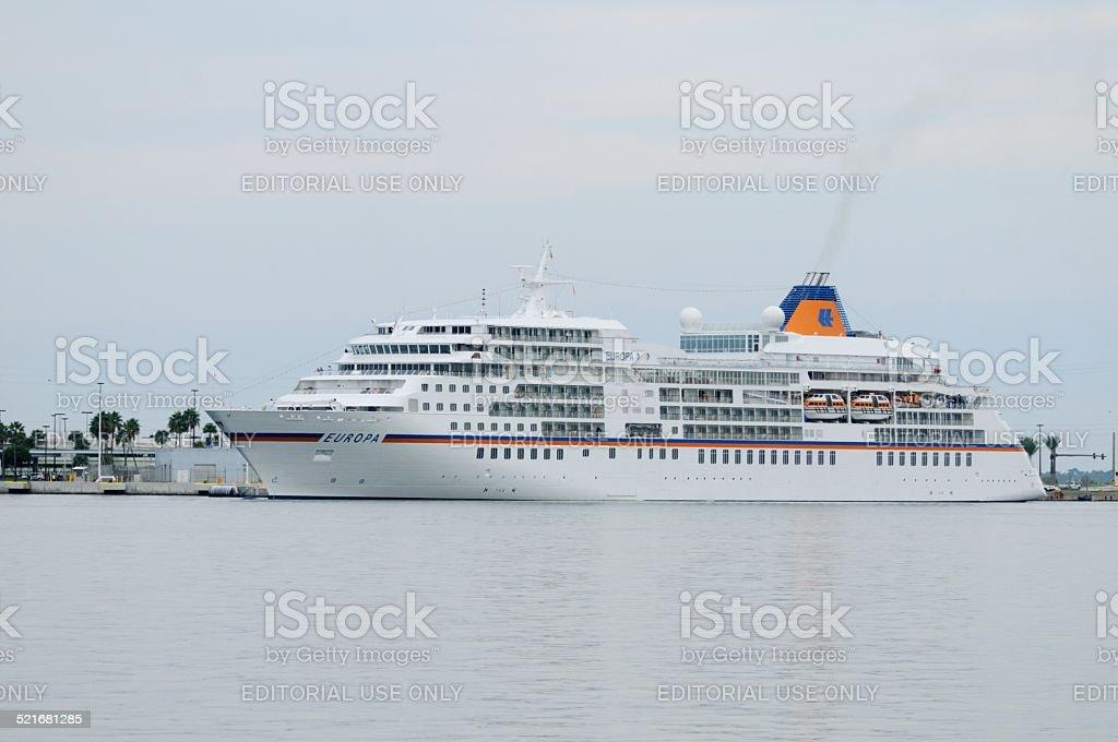 MS Europa Cruise ship stock photo