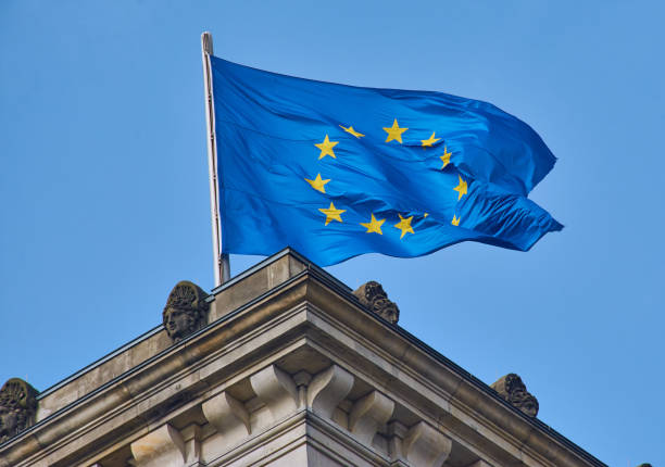 Europa Fahne stock photo
