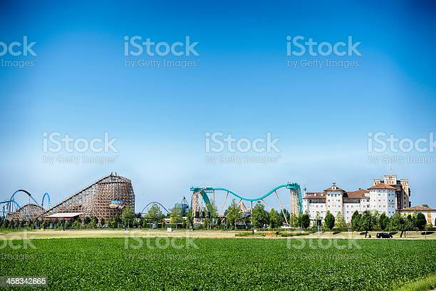 Rust, Germany - July 11, 2013: View at the Europa Park located at Rust. It is the largest theme park in Germany.