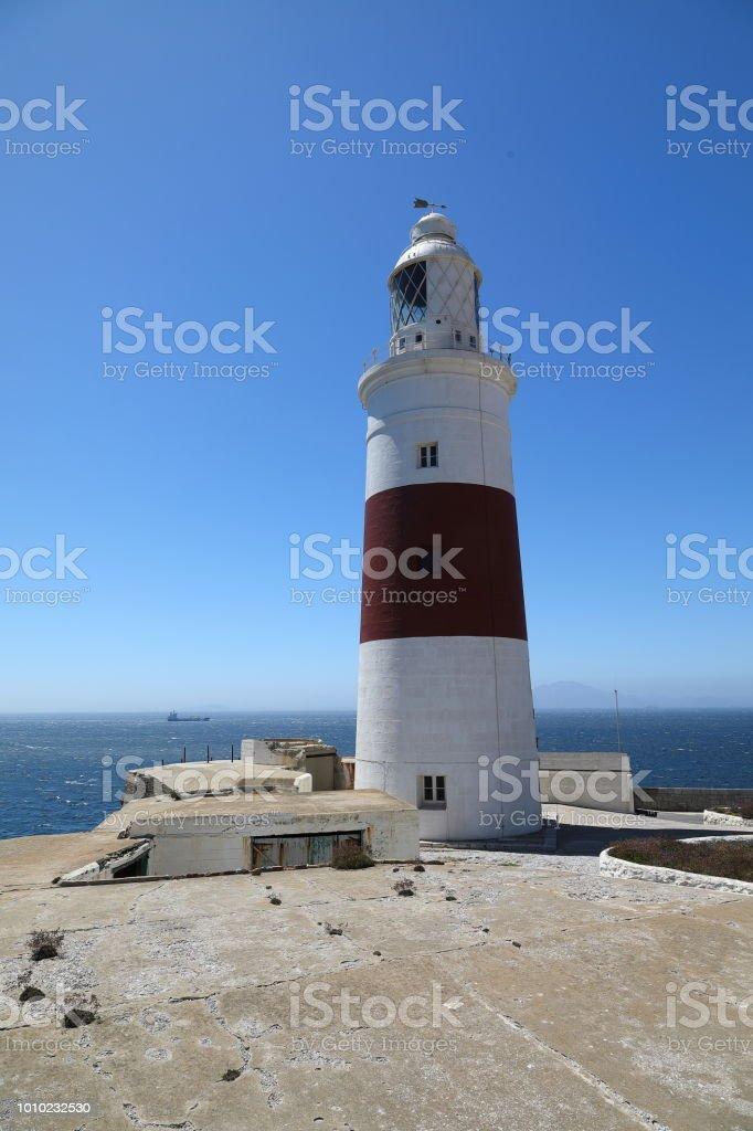 Europa Point Lighthouse - Gibraltar, UK stock photo