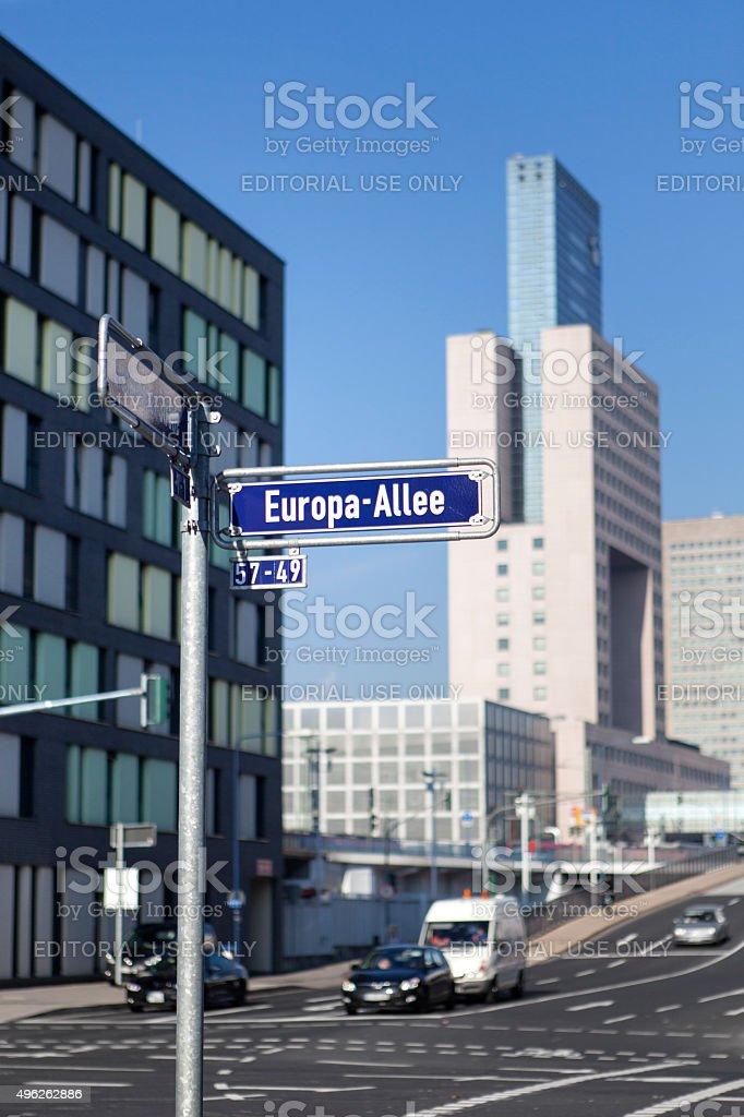 Europaallee - Europaviertel, Frankfurt Germany stock photo