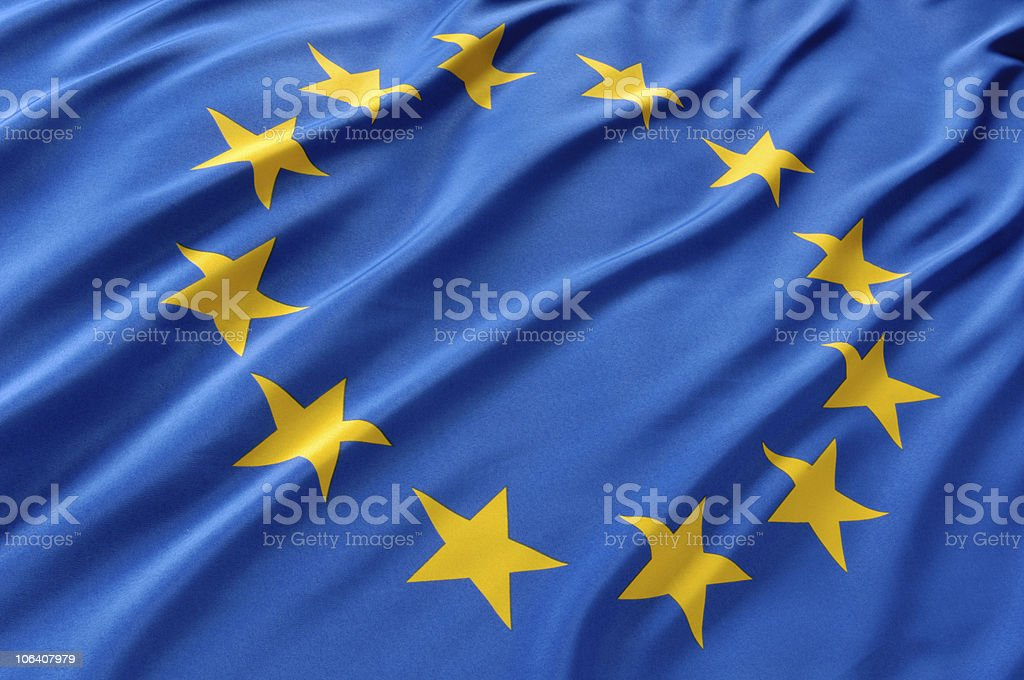 Europaflagge stock photo