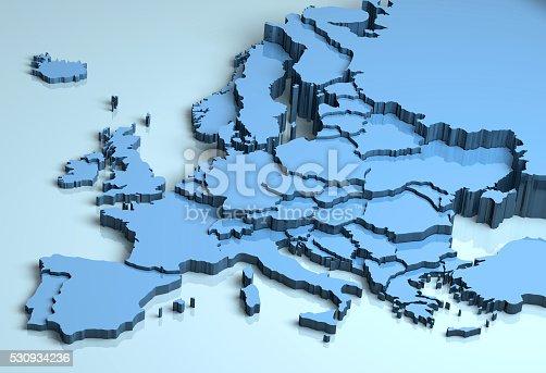 istock Europe 3D 530934236