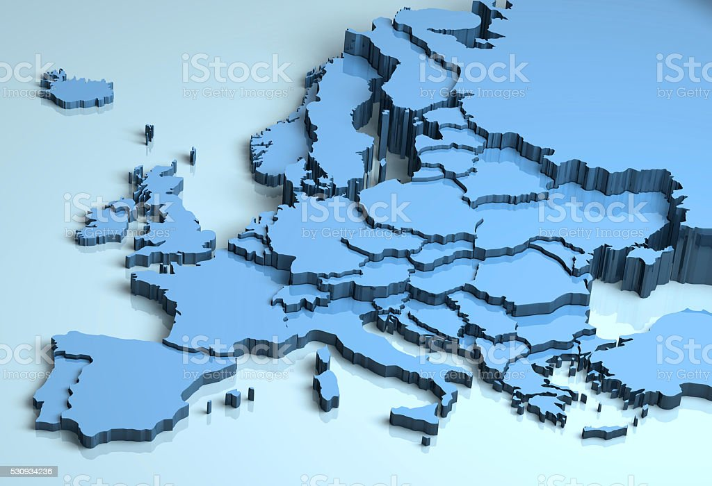 Europe 3D stock photo