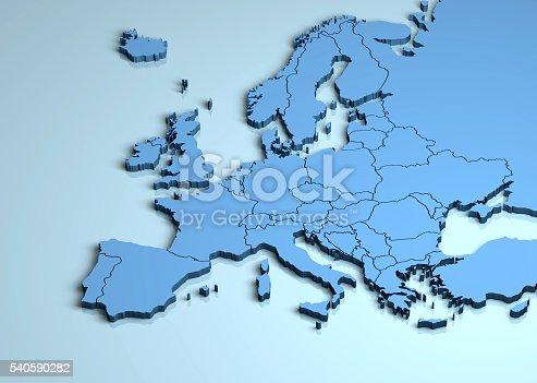 istock Europe 3D 540590282