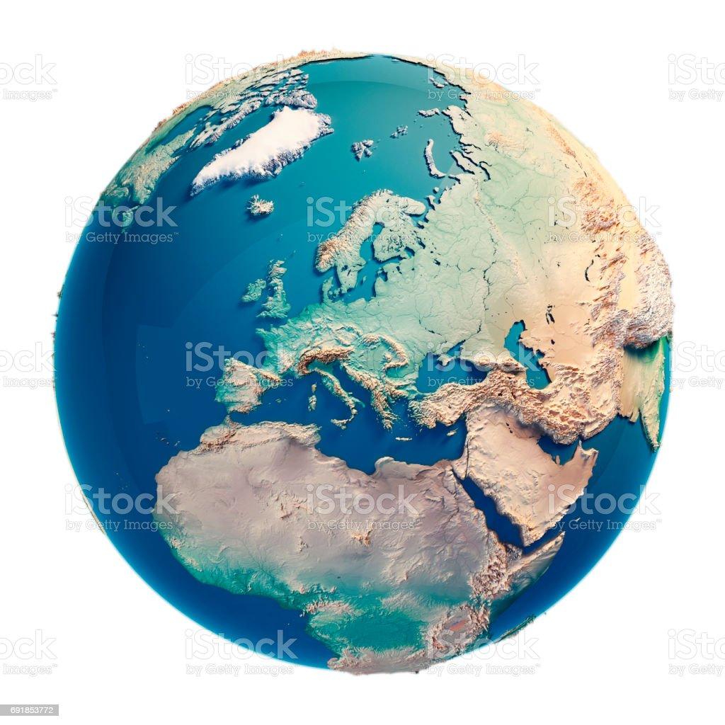 3D Render Europa planeta Terra - foto de acervo