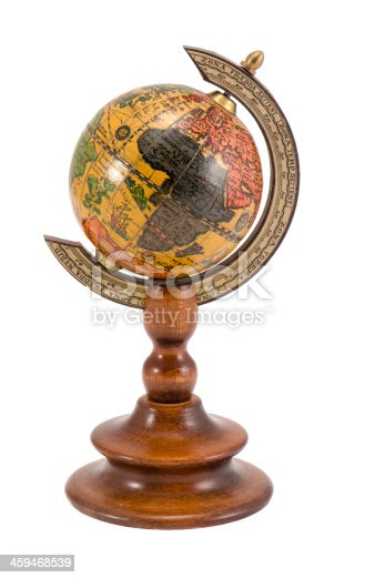 980314112istockphoto Europe Africa view wooden globe isolated on white 459468539