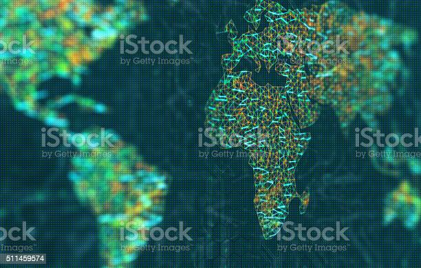 Europe And Africa In Focus Stock Photo - Download Image Now