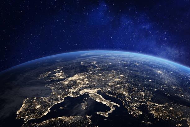 World map cities stock photos