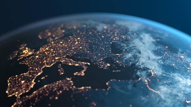 world map europe stock photos
