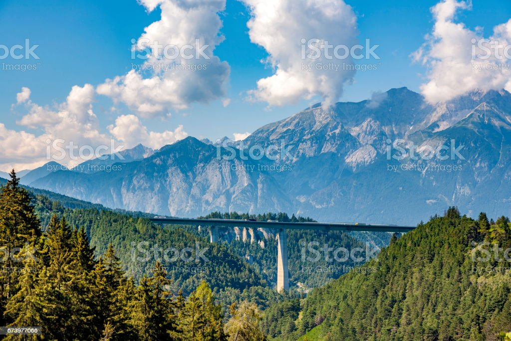 Europabrücke am Brenner-Autobahn in Tirol – Foto