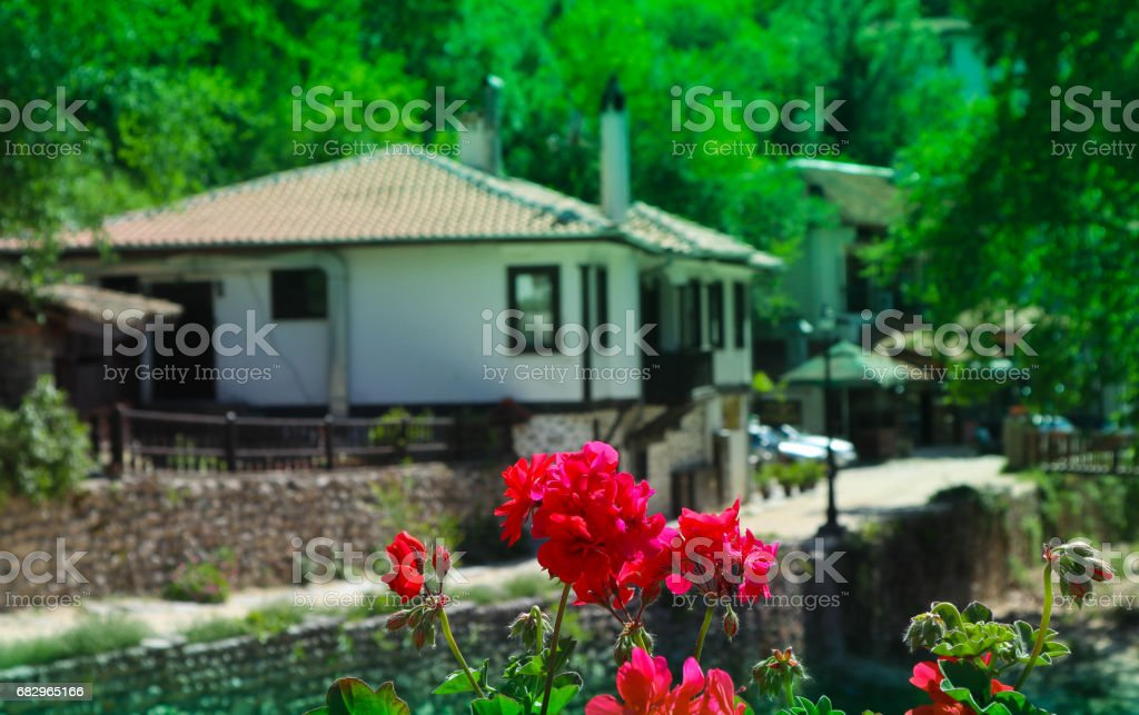 Europe, Bulgaria, Melnik city. Small vinery village in traditional style. royalty-free stock photo