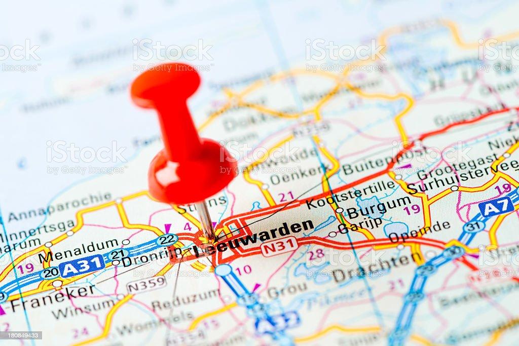 leeuwarden karte Europas Städte Auf Karteserie Leeuwarden Stock Fotografie und mehr  leeuwarden karte