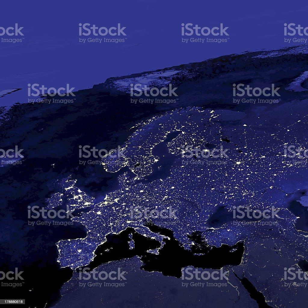Europe City Lights stock photo